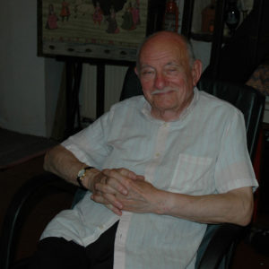 Grand-père at 82 at home in La Grée. You cannot tell from his relaxed demeanor that six of us were staying with him!