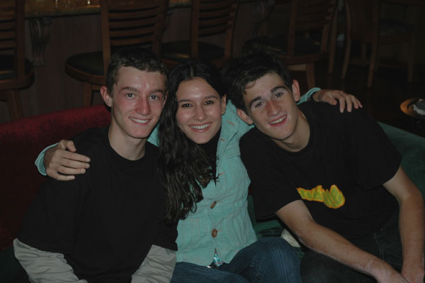 Here's a great but rare photo of Nick with Alban and Daphné, taken at Thanksgiving 2005. Tom went to Thanksgiving dinner at his grandfather's in Palo Alto, and the rest of us dined with the Hanlons.