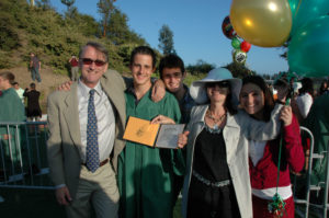 Tom's graduation from Harbor High School in June 2007. Six months later, he fled back to Paris to live with his mom.