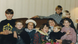 This shot of Christmas 1996 in Rambouillet gives you an idea of that whirlwind of energy, here on a couch with friends.