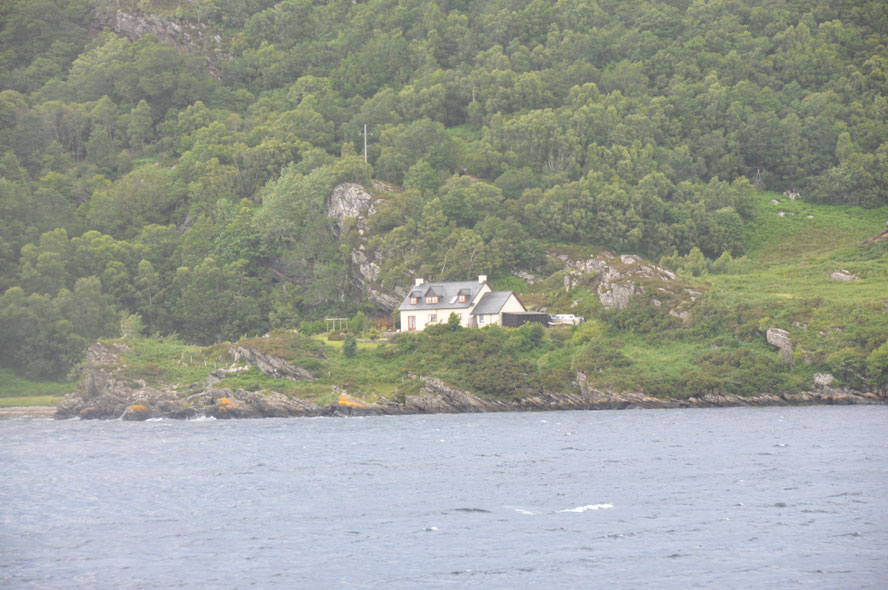 The rugged coastline of Loch Carron, as seen from the train