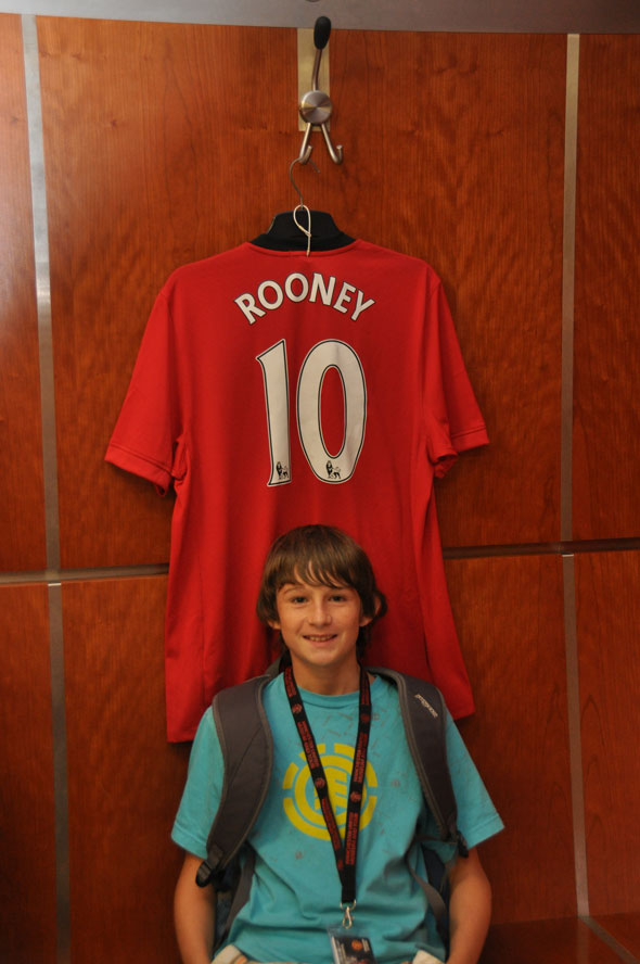He ran to this shirt as soon as our tour group walked into the changing room.